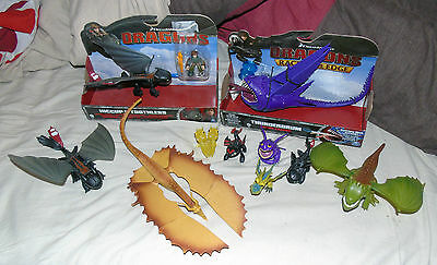 how to train your dragon figures sealed all official toothless thunderdrum