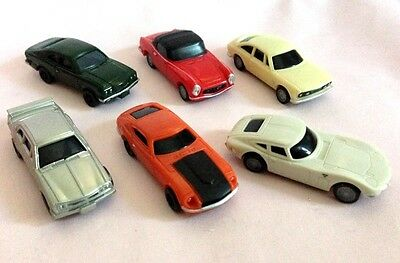 Japan Vintage Car Collection Lot of 6 Pull Back Toy - Datsun/GT-R/Savanna RX-3