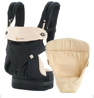 Ergobaby Comfort 360 4 Position Baby Carrier Plus Easy Snug Infant Insert