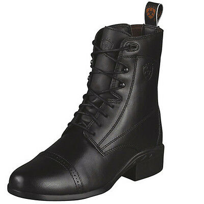 Ariat Heritage 3 Lace BLACK Paddock Boots, BNWT - CLEARANCE