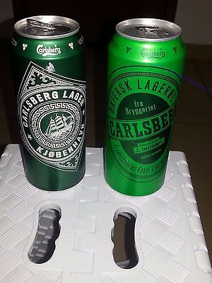 2 Empty Beer Carlsberg Cans Vintage Collection 500 ml Israel 2017