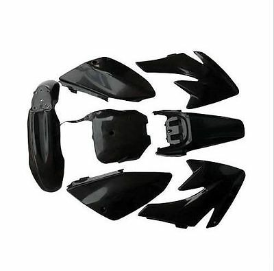 Honda Crf70 Black Plastics Body Fender Kit 140/150/160/200Cc Atomik Pit Bike
