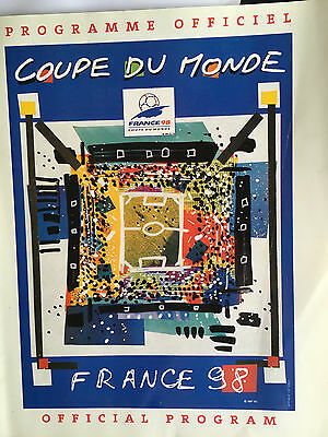The Fifa World Cup 1998 Official Football Programme France 98