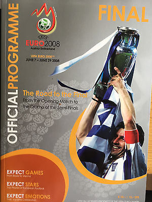 Official Programme for 2008 Euro final