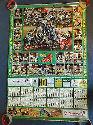 "39"" x 27"" 1999 SPEEDWAY GRAND PRIX POSTER - POLISH LECH SPONSORS etc"