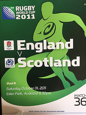 Official Programme for England v Scotland at Rugby World Cup 2011