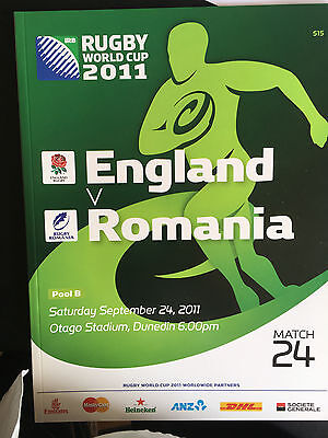 Official Programme for England v Romania at Rugby World Cup 2011