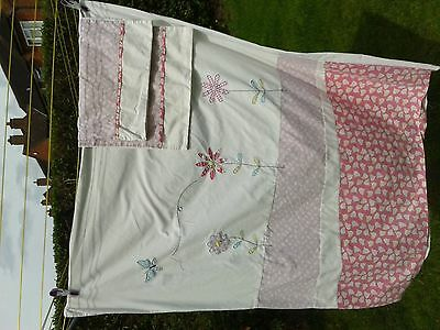 cot duvet set cover and two pillowcases girls