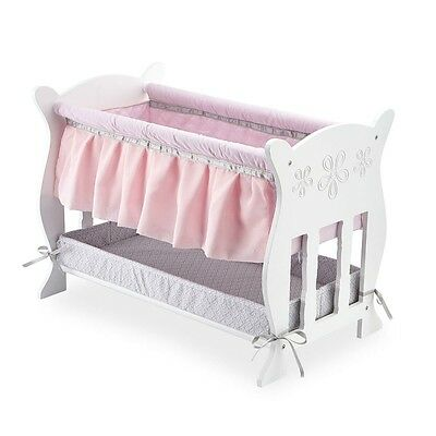 Baby So Sweet Wooden Doll Bassinet Cot BED