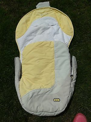 silver cross grey and lemon yellow pushchair liner and footmuff