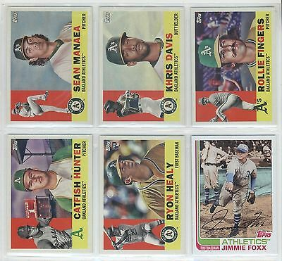 2017 Topps Archives Oakland Athletics A's Team Baseball Card Set (12)