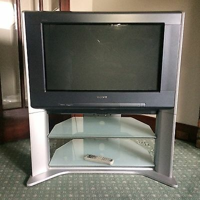 Sony TV & Stand, Flat Screen Television Trinitron Tru Surround, Made In Japan.