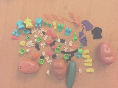 Mr & Mrs Potato head, Cucumber, Carrot pieces vintage 1960's toys-Free postage