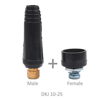 Quick Fitting Male + Female Cable Connector Plug Socket DKJ10-25 Welding Machine