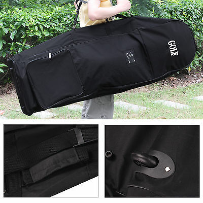 Superb Padded Golf Travel Bag Cover Case With Wheels Flight Carrying Coverall