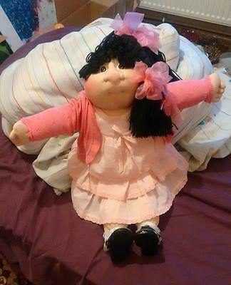 Cabbage Patch Soft Sculpture Girl Winona Heather with adoption papers