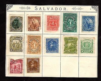 Stamps ~ EL SALVADOR With Damage as Per Scan ~ Very Early