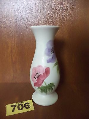 H.J Wood Ltd / E. Radford Art Deco Hand Painted Floral / Flowers 15.25 cm Vase