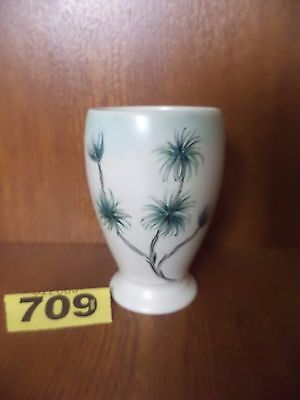 H.J Wood Ltd / E. Radford Art Deco Hand Painted Floral 10 cm Vase