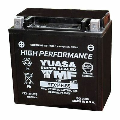 YTX14H-BS (CP) Genuine Yuasa Motorcycle ATV Quad Buggy Battery With Acid Pack