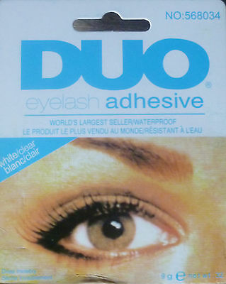 COLLE FAUX CILS DUO WATERPROOF TEINTE BLANCHE TRANSPARENTE EYELASH ADHESIVE  9g