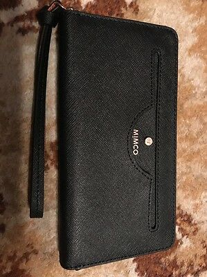 Mimco Phenomena Wallet In Black And Rose Gold