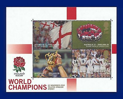 2003 MS2416 1st-68p Rugby World Cup Mini Sheet  MNH Cat £14 afgs