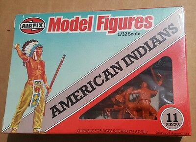 Airfix 1 32 American Indians 1980 perfect box