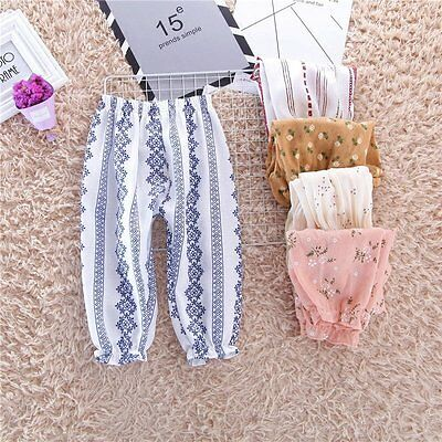 Toddler Kids Baby Girl Summer Casual Floral Bloomers Bottom Harem Pants Trousers