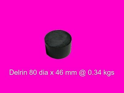 Black Acetal 80 dia x 46 mm-Engineers Plastic, Bush, Bearings and Gear
