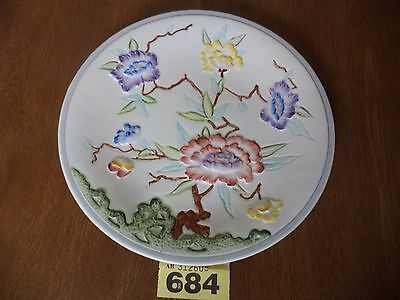 H.J Wood Ltd Art Deco Hand Painted 22 cm Plate / Charger - Chinese Rose