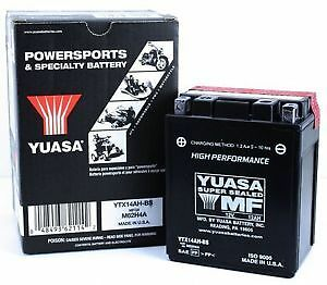 YTX14AH-BS Genuine Yuasa Motorcycle ATV Quad Buggy Battery (With Acid Pack)