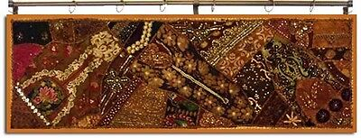 "60"" Rich India Vintage Bead Decor Sequin Sari Wall Hanging Tapestry Throw Runner"