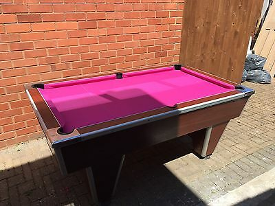 7 X4 Pool Table Slate Bed Coin Operated Or Free Play