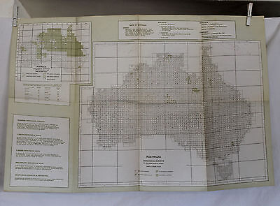 1977 Brochure of Maps of Australia by Dept of National Resources what maps avail