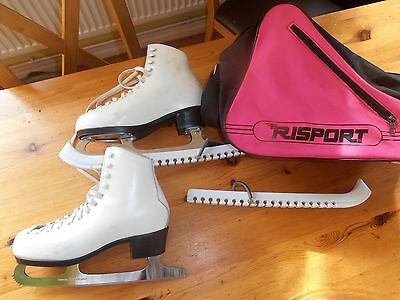 Risport Star Girls  Size 4  Eur 37 Leather Figure Skates