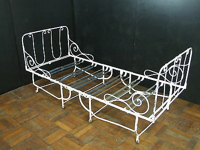French 19th century antique iron fold-away bed