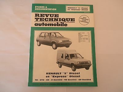 Revue Technique Automobile RENAULT 5 Diesel - EXPRESS Diesel