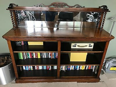 Antique Victorian Bookcase Mahogany And Glass Unusual
