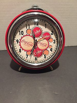 Metal Coca Cola Bottle Cap Motif Quartz Alarm Clock