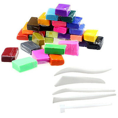 5 pcs Tools + 32 Colors clay Fimo kit J2C7