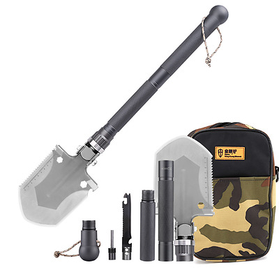 New King Kong Multi Tool Shovel Camping Hunting Outdoor Survival Compass Hoe Axe