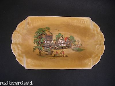 Lancasters Hanley Vintage Miniature China Dish Somerset Way England c1930s