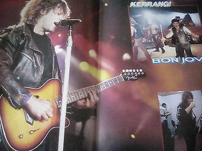 Bon Jovi Europe 93 Tour Pull Out Double & Single page Posters British Mag