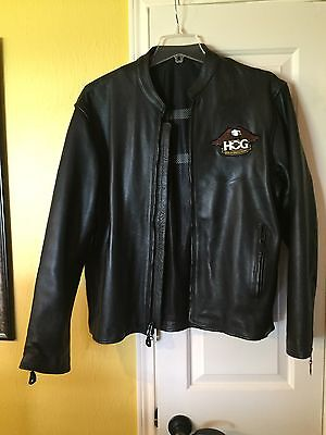 Men's Black Leather Motorcycle Jacket Size XL Great leather