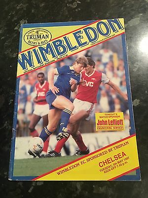 Official Wimbledon FC Matchday Programme Vs Chelsea FC