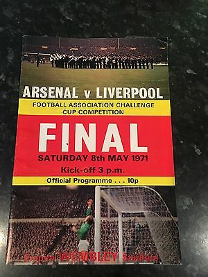 Official 1971 FA Cup Final Match day Programme Arsenal v Liverpool