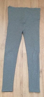 MIDULI Maternity Over BumpThick Grey Leggings Size 12