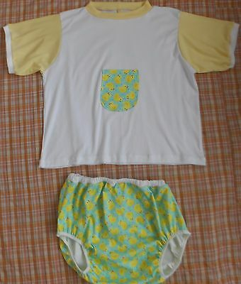 Adult-Baby-T-Shirt-Diaper-Cover-Set  Rubber Ducky Style Waterproof Diaper Cover