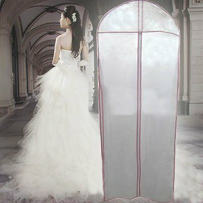 "71"" Breathable Bridal Wedding Dress Gown Garment Cover Storage Bag Protecter"
